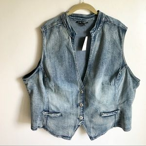 Ashley Stewart Jackets & Coats - Ashley Stewart Blue Denim Vest Size 26 NWTS